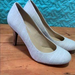 Tweed high heels made by Kelly and Katie